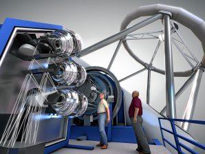 O MOONS é um espectrógrafo que será instalado num dos telescópios do VLT.