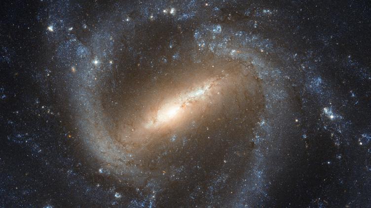 Imagem da galáxia espiral barrada NGC 1073