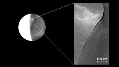 Disrupção nas nuvens de Vénus (detalhe)