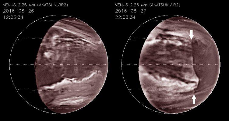 Disrupção nas nuvens de Vénus - Akatsuki
