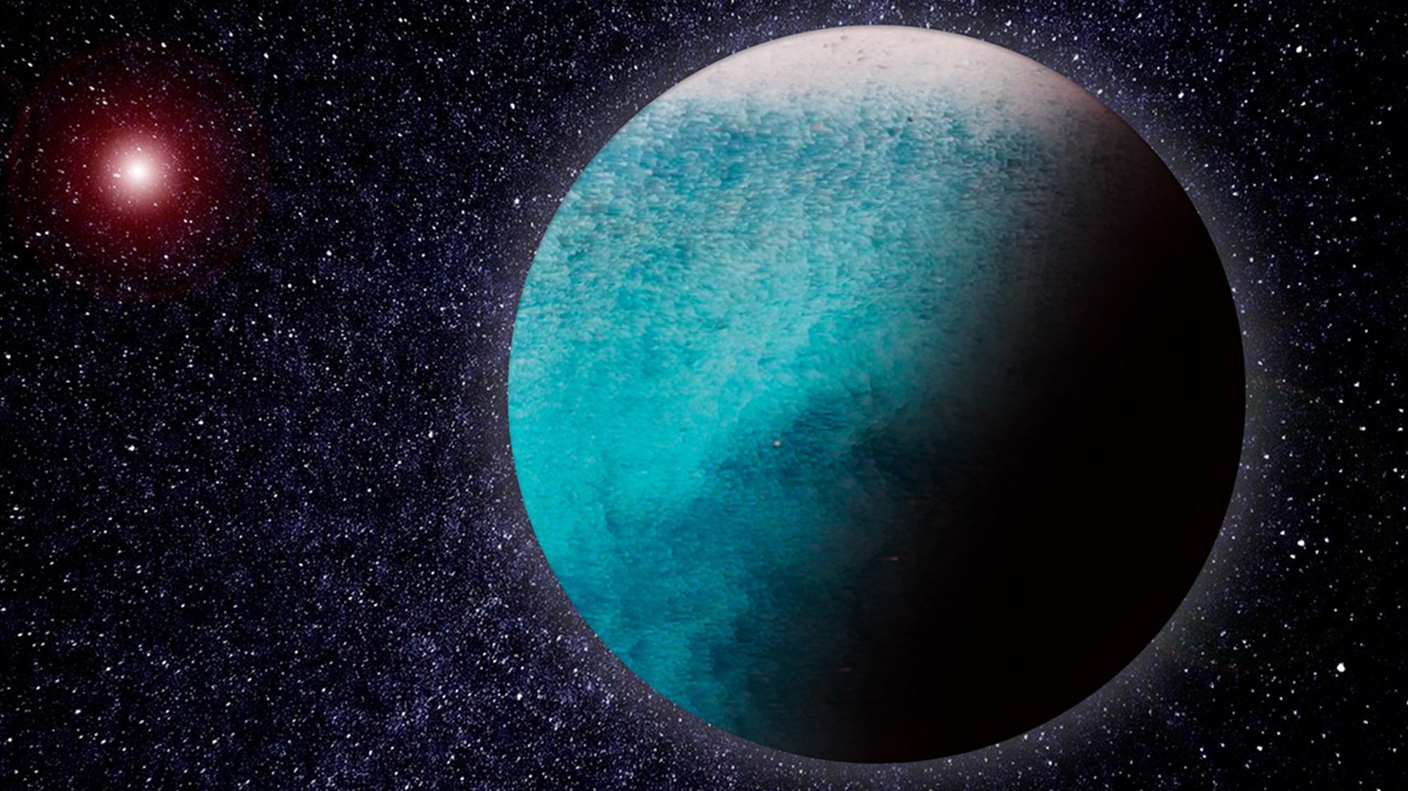 Um exoplaneta aquático