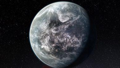Conceção artística de um planeta semelhante à Terra.