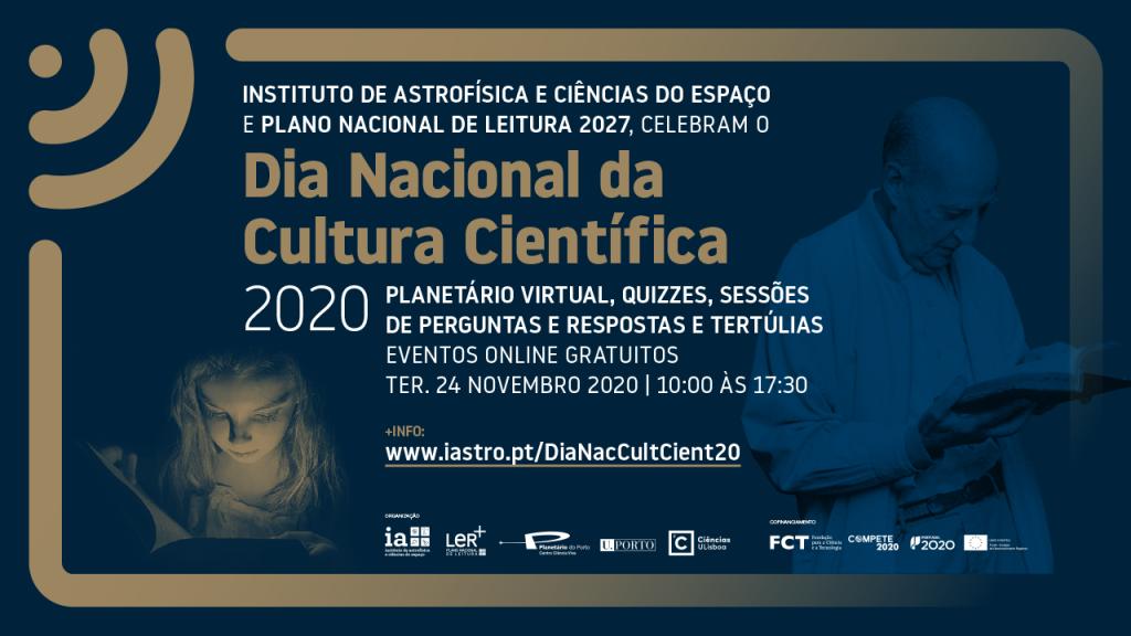 O IA e o PNL 2027 celebram o Dia Nacional da Cultura                         Científica 2020