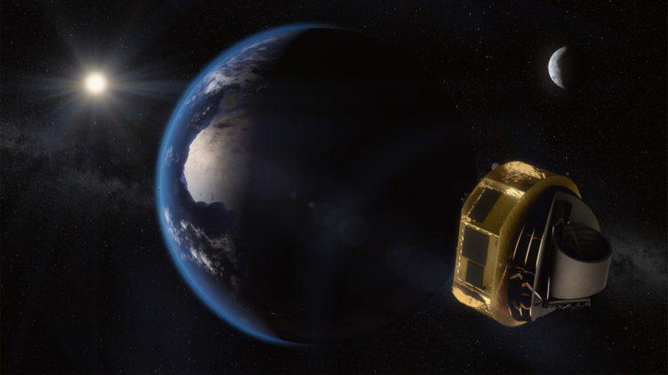 Imagem artística do satélite Ariel