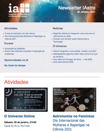 Newsletter IAstro Janeiro 2021