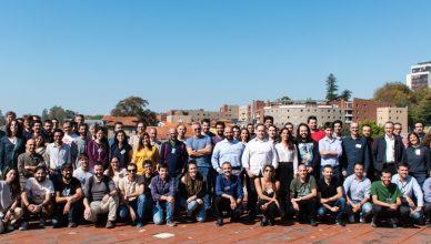 Alguns dos membros do Instituto de Astrofísica e Ciências do Espaço reunidos no encontro anual em 2019.