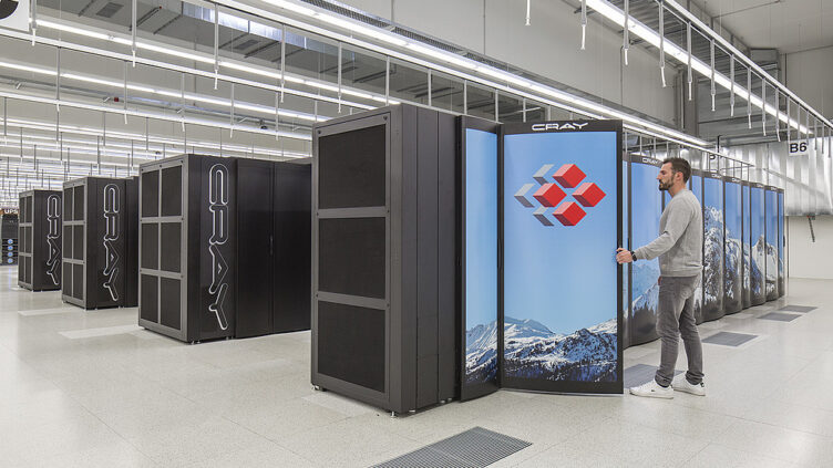 O supercomputador Piz Daint, em Lugano, Suíça