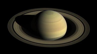 Imagem de Saturno e dos seus principais anéis, obtida com a sonda Cassini em 2016.