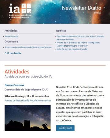 Newsletter IAstro Agosto 2021